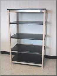 Adjustable Shelves Bookcase Stylish Metal Frame Shelving Bookcase With 4 Wood Shelves And A