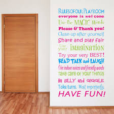 creative home decor plane wall stickers quotes rules of room