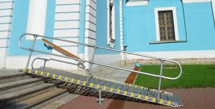 aluminum handrails portable ramps roll a ramp