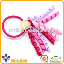 ribbon hair bands curly ribbon rubber elastic hair bands korker ribbon cheer bow
