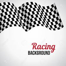 Checkered Racing Flags Background With Black And White Checkered Racing Flag Vector