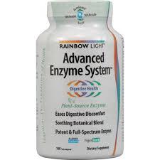 rainbow light advanced enzyme system light advanced enzyme system 180 vegetarian capsules