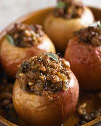 savory baked apples with sausage recipe