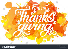 happy thanksgiving beautiful inscription lettering text stock