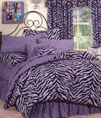 Tiger Comforter Set Tiger Leopard Skin Print Comforter Set Purple