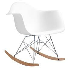Eames Inspired Rocking Chair Rocking Eames Style Tub Chair White U2013 Bothy Blue