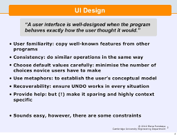 lecture 7 software engineering and design user interface design