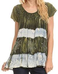 ombre blouse sakkas layleka tie dye ombre batik embroidered sequin beaded
