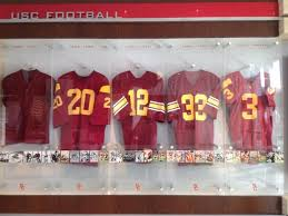 heritage uniforms and jerseys usc football jerseys in new heritage hall inside usc with scott wolf