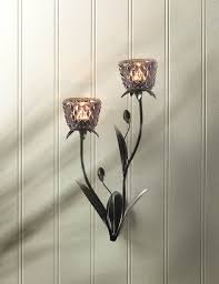Wall Candle Sconces With Glass Wall Sconce Candle Holder Modern Glass Flower Holder Wall Sconce