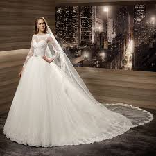 ivory wedding dress sleeve lace wedding gown country western illusion bodice
