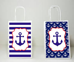 nautical gift bags anchor goody bags nautical goody bags nautical favor bags