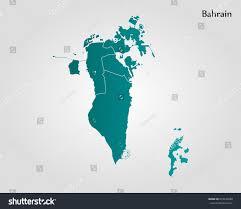 map of bahrain map bahrain stock vector 653247688