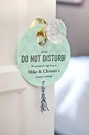 diy your own wedding do not disturb door signs