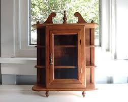 Mahogany Display Cabinets With Glass Doors by Curio Cabinet Etsy