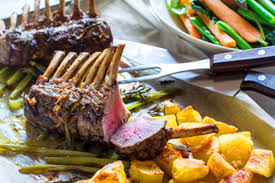 rack of lamb with crispy potatoes and vegetable braise u2013 recipes