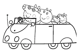 camping peppa pig coloring pages coloringsuite com