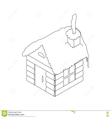 christmas house icon outline style stock vector image 79610459