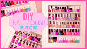 diy shabby chic nail polish rack room inspiration youtube