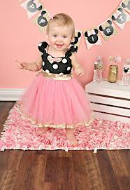 pink and gold minnie mouse birthday dresstutu party dress in black