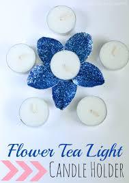 blue tea light candles diy flower tea light candle holder finding zest