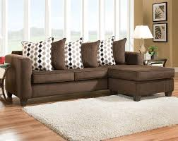 radar mahogany two piece sectional sofa transitional living