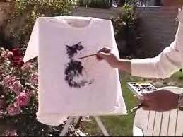 painting t shirt using fabric acrylic paints youtube