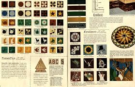 30 patterns for vinyl floor tiles from the 1950s tile design