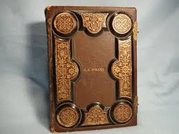 embossed leather photo album this vintage 25 page photo album features an embossed