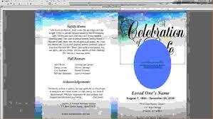 funeral program software 9 funeral program template microsoft wordagenda template sle