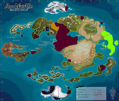 Map Of Avatar Last Airbender World by Tg Traditional Games