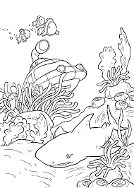 remarkable coloring page sea ocean animals with underwater and