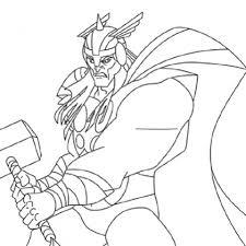 coloriage à dessiner de thor