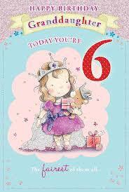 granddaughter u0027s 5th birthday card 5 today little princess