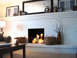 painting interior brick fireplace ideas home fireplaces firepits