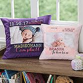 personalized pillows for baby personalized baby blankets pillows personalizationmall