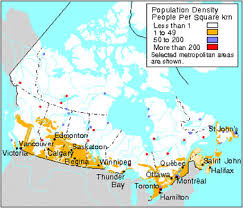 canadian map population distribution demography the canadian encyclopedia