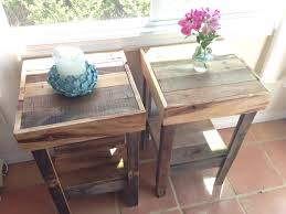 Side Tables For Bedroo by High Side Tables For Bedroom Decorative Reclaimed Wood