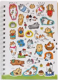 cat photo album light blue cat nap sticker album book from japan memo