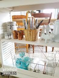 kitchen island cart from repurposed materials prodigal pieces thrifted farmhouse decor for budget friendly decorating style prodigal pieces prodigalpieces