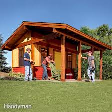 How To Build A Large Shed From Scratch by How To Build A Shed On The Cheap U2014 The Family Handyman