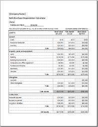 bulk purchase depreciation calculator word u0026 excel templates