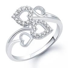 girls rings silver images Buy meenaz rings for girls heart ring for women silver plated jpg