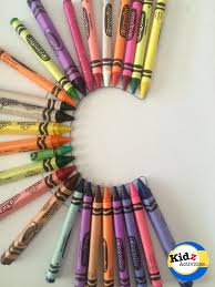 letter c craft colourful crayons kidz activities
