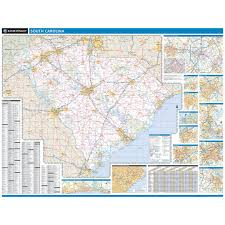 State Map Of South Carolina by Rand Mcnally South Carolina State Wall Map