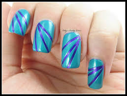 striping tape nail art for golden oldies tuesday lazy betty