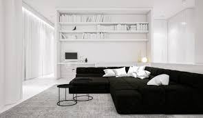 30 black white living rooms that work their monochrome magic 13
