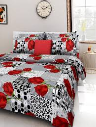 Bed Quilts Online India Buy Multi Coloured Cotton Printed Double Bed Sheet Set By Homefab