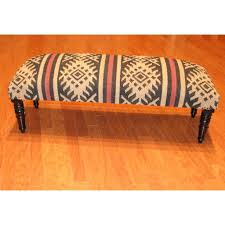 Kilim Armchair Furniture Suede Ottoman Coffee Table Fabric Coffee Table With