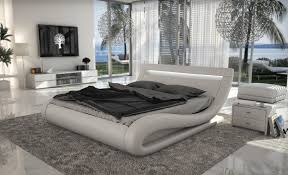 Modern White Bed VG Modern Bedroom Furniture Ideas For The - Modern white leather bedroom set